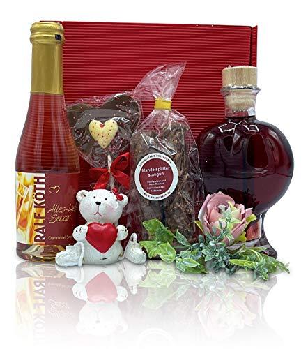 Geschenkset Alles Liebe im rotem Geschenkkarton - zu jedem Anlass