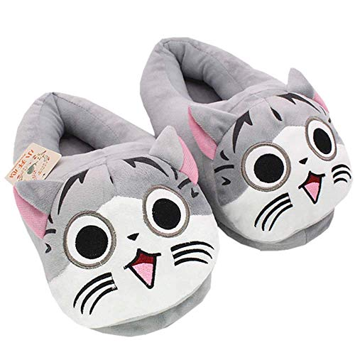 Leyue Pantofole di Peluche Unisex Giapponese Serie TV Giapponese Serie TV Ki Sweet Home Pantofole Inverno Caldo Indoor Lovely Cat Home Shoes (Cat (Color : Cat a)