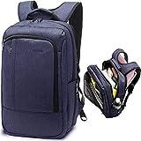 LAPACKER 17 Inch Lightweight Slim Business Laptop Backpack for Men Water Resistant Computer Backpacks Traveling Bags in Black