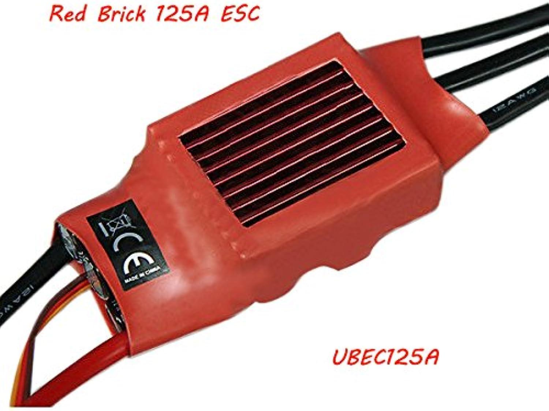 LaDicha rot Brick 125A Esc Brushless Esc Bec  5V5A Ubec125A B07Q2886LL Neue Sorten werden eingeführt  | Die Farbe ist sehr auffällig