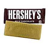 Foil Wrapper' GOLD ALLIGATOR', 6' X 7.5', For Over Wrap 1.55 OZ Hershey Bar, 100 in a pack