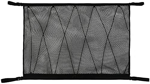 """SUV Car Ceiling Cargo Net Pocket, 35.5""""x25.5"""" Car Roof Storage Organizer, Long Trip Camping SUV Storage Bag Tent Putting Quilt Children's Toy Towel Sundries Interior Accessories"""