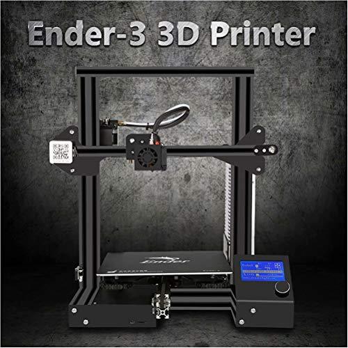 Laecabv Creality Ender 3 Imprimante 3D Machine Kit d'imprimante V-slot Prusa I3 de la machine bricolage à commande numérique pour usage domestique et scolaire - Taille d'impression 220x220x250mm