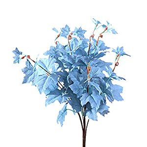 GREENWISH 21 Inch Artificial Maple Leaves Branches Autumn Silk Flowers with Stems, Fall Leaves Faux Plant Shrub Decoration for Xmas Thanksgiving Home Party Table Centerpieces