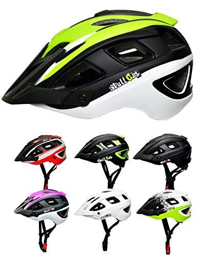 Skullcap® Fahrradhelm & MTB Helm + Visier für Herren & Damen (V-Trail, M (55-58 cm))