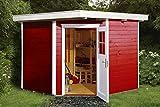 weka Gartenhaus 229 Gr.2, schwedenrot, 21 mm