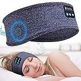 Sleep Headphones Bluetooth Sleeping Headphones Headband - Thin Soft Elastic Comfortable for Side Sleeper, Wireless Music Headband Headphones for Sleeping Sports Yoga, Gifts for Men Women (Blue)