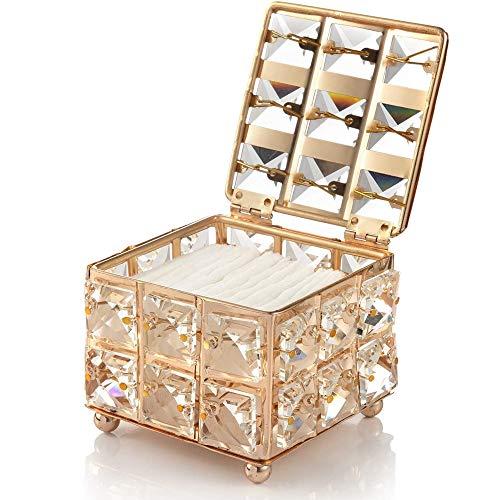 Porta Brochas de Maquillaje,Caja de Almacenamiento de Maquillaje de Cristal,Organizador de Cosméticos de Cristal,Organizador de Porta Brochas de Maquillaje,para Hisopos de Algodón,Brocha de Maquillaje