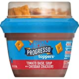 Progresso Toppers, Tomato Basil Soup with Cheddar Crackers, 12.2 Ounce