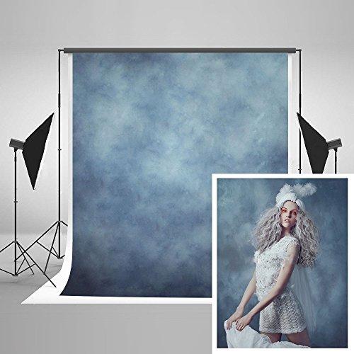KateHome PHOTOSTUDIOS 1,5x2,2m Hintergrund-Fotografie-Blau-Foto-Hintergrund-abstrakte Kulissen-Porträt-Beschaffenheit Microfiber-Hintergrund für Foto-Fotografie-Requisiten