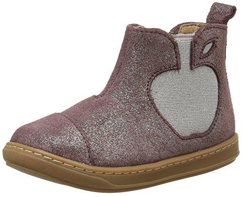 Shoo Pom Bouba Apple, Chaussures Premiers Pas Bébé Fille, Rose (Mascara Prune/Platine), 25 EU