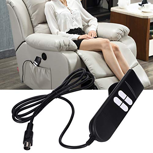 4 Button Remote Hand Control Handset, Portable Manual Lift Chair or Power Recliner Hand Control Electric Recliner Controller Remote Replacement Switch Parts for Rod Motors, Sofas, Wheelchairs, etc