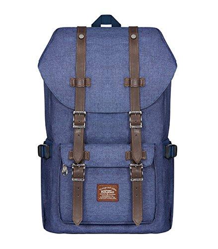 KAUKKO Rucksack Damen Herren Schön und Durchdacht Daypack mit Laptopfach für 14 Zoll Notebook für Schule,Uni, 22L, Blau