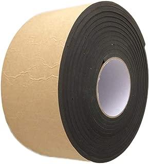High Density Foam Tape, Foam Seal Strip Black Adhesive Weather Strip Foam Tape (32.8 Feet Long X 4 Inch Wide X 0.039 Inch Thick)
