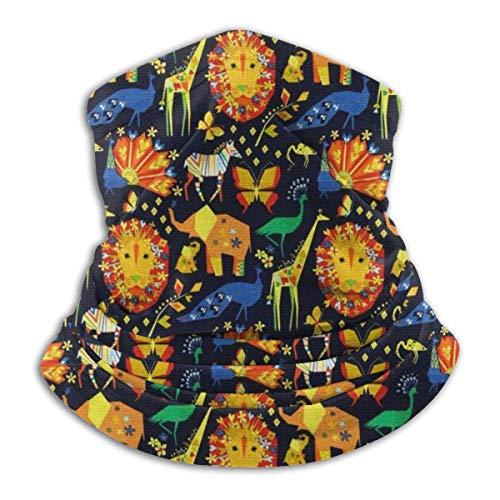 ShiHaiYunBai Tour de Cou Cagoule Microfibre Chapeaux Tube Masque Visage, Fleece Neck Warmer - African Zoo Neck Gaiter Tube, Bandana, Headband & Beanie