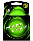 Night Light Glow in the Dark Condoms Higt Quaility Retail Box with Reservoir Tip - 3 Lubricant Latex Condoms
