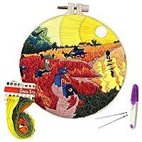 刺繍スターターキット パターンと説明書付き クロスステッチキット DIY初心者用 kit 2 KT005
