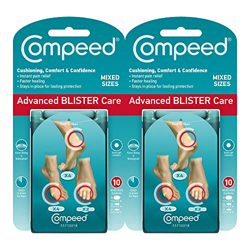 Compeed Advanced Blister Care Cushions Mixed Sizes 10 count - (2 Pack)