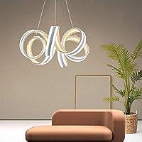 XINGBINGLE 現代のミニマリストの錬鉄製のシリコーンの白いレストランシャンデリアサイズ50 M * 20 Cm天井ランプ照明ランプカフェバーポーチレストラン寝室研究リビングルーム