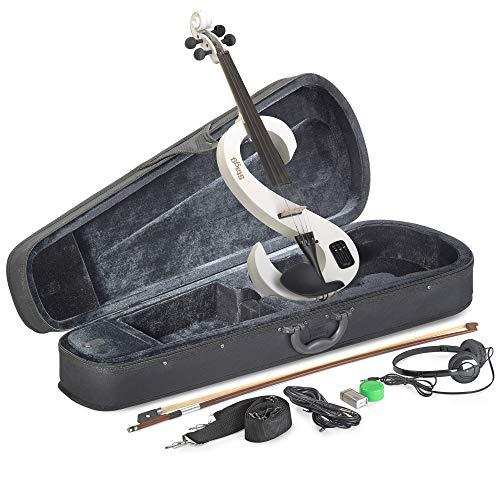 Stagg EVN 4/4 WH Violino Elettrico Completo 4/4, Bianco