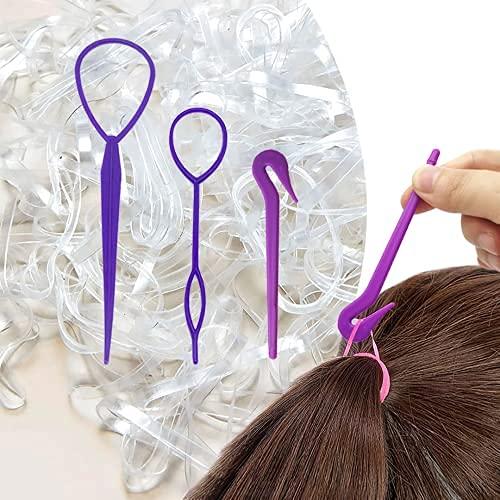 elastici gomma elastici piccoli morbidi per bambini capelli, treccine capelli, acconciatura da sposa e fai da te marca