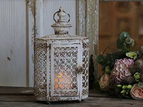 Chic Antique – Laterne weiß antik mit Perle