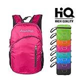 MounTop Ultra Lightweight Foldable Packable Durable Travel Hiking Backpacks Daypacks 20L Fuchsia