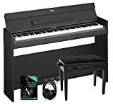 Yamaha Arius XJ-S52B Piano digital (Incluye Banco, auriculares y ordenador–Cuaderno (88teclas, Pulsación, ordenador estante, teclado, incluye Escuela) Negro