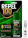 Repel NEW 100 Insect Repellent - 1 oz. Pump Spray Bottle and EXCLUSIVE! HealthandOutdoors Refillable Skeeter Spritz Bottle!