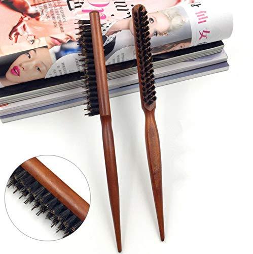 YMYGCC Brosse à Cheveux 1 poignée en bois Brosse à cheveux professionnel plaque Brosse à cheveux Haircut Massage du cuir chevelu cheveux Styling outil (Color : 1Pcs Brown)