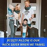 BCOZZY Kinder Nacken und Kinn stützendes Reisekissen – unterstützt den Kopf, Hals und das Kinn. Ein Patentiertes Produkt. Kindergröße, MARINEBLAU - 4