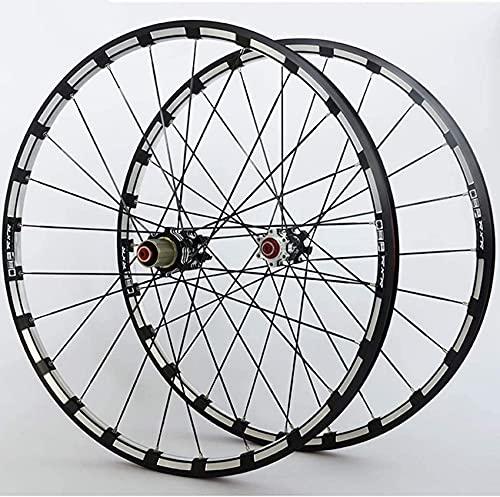 Ruedas de bicicleta Juego de ruedas de bicicleta de montaña Llanta de aleación de doble pared Núcleo de carbono F2 R5 Rodamiento Palin Freno de disco de liberación rápida 9 10 11 velocidades Ruedas de