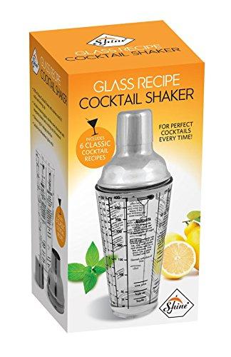 Shine 400ml Rezept Cocktail Shaker Glas, Edelstahl Halsband, Kappe Bar Mixer
