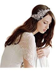 Butterme Catena coronale delle donne di cristallo del diamante sposa sposa l'accessorio dei capelli della fascia capa di usura strass gioielli Copricapo fascia Tiara