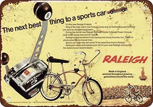 HNNT Metalen bord 8x12 inches 1968 Raleigh Fireball Fiets Vintage Look Reproductie Muurdecoratie