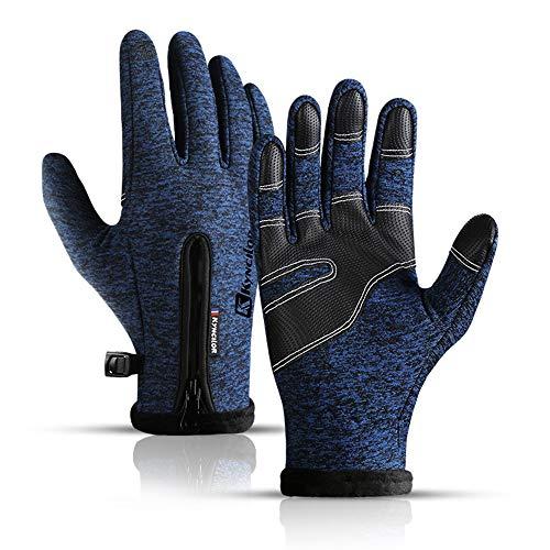 Kyncilor Herren Ski warme Handschuhe, Wind- und wasserdichte Sport Handschuhe, rutschfest MTB-Handschuhe, Touchscreen-Funktion Fahrradhandschuhe, Winterhandschuhe für Herren&Damen