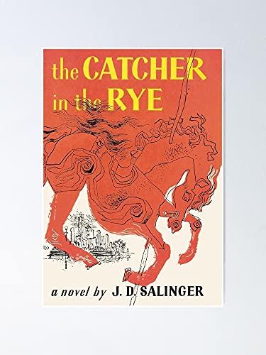 AZSTEEL Póster vintage de Catcher In The Rye de 11,7 x 16,5 cm