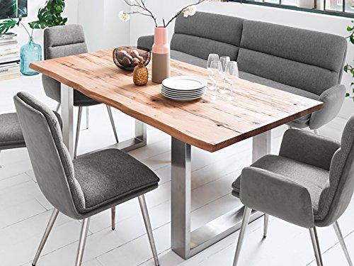 möbelando Esszimmertisch Küchentisch Esstisch Kufentisch Massivholztisch Tisch Matras I
