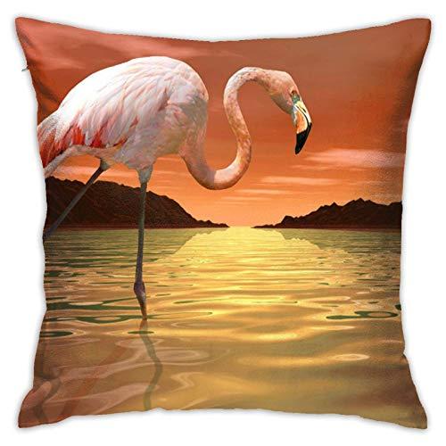 Funda de cojín Throw Cojín Throw Pillow Case Flamenco rosa Funda de Almohada 45X45CM