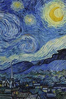 Starry night, Vincent van Gogh.  Ruled journal: 160 Lined / ruled pages, 6x9 inch (15.24 x 22.86 cm) Laminated.  (Paper notebook, composition book)