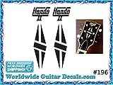 Gibson Hondo Guitar Decal Headstock Waterslide Restoration logo 196