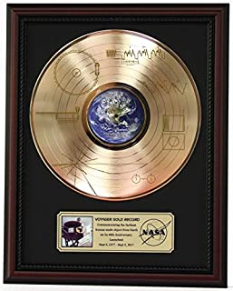 Voyager One Sounds Of The Earth Cherrywood Framed Gold Lp Record Display M4