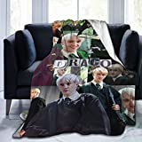 Draco-Malfoy Blanket Ultra-Soft Bed Skin-Friendly Flannel All Seasons for Bedroom Sofa Comfortable Weighted Blankets and Throws 50x40inch