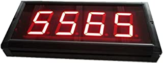 AZOOU 3-inch High Character LED Counter Digital Countdown/up Three Buttons With IR Remote Control Red Color