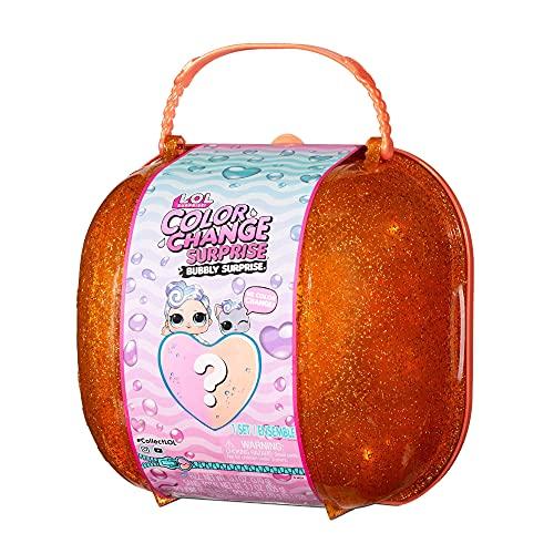 LOL Surprise Bubbly Surprise che Cambia Colore - Regalo per Bambini - Con Bambola Esclusiva e Animale Domestico - Scopri tante Sorprese come Palle, Sabbia Cinetica e Altro - Collezionabile - Arancione