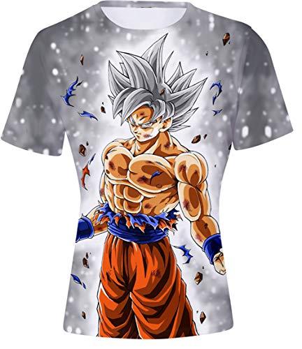 HAOSHENG Niño Dragon Ball 3D Impresión Camisetas diseños de Cosplay Manga Anime Historieta T-Shirt(M)