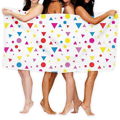 Fun Life Art Toalla de baño con formas geométricas brillantes, 100% poliéster, para deporte, toalla de playa, 51 x 80 cm