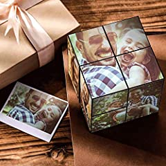 CUSTOM MAGIC 9 PHOTOS CUBE --- Display up to 9 photos with this magic cube(6 squares and 3 rectangles). Whilst playing with this cube, you will find your photos are gradually reveal themselves, each on a different surface. PUZZLE & DECOMPRESSIN RUBIK...