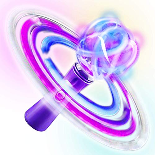 ArtCreativity Light Up Galaxy Orbiter Wand - 9 Inch LED Electronic Spin Toy for Kids with Batteries Included - Great Gift Idea for Boys, Girls, Toddlers - Fun Birthday Party Favor, Carnival Prize