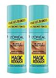 L'Oréal Paris Spray Instantané Corrector de raíces fundadas, Magic Retouch, rubio a rubio oscuro, 75 ml, 2 unidades